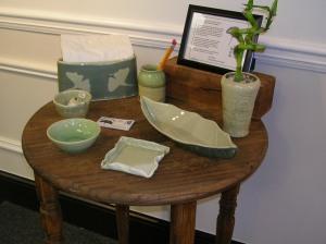 Amy Sabo, Gingko Leaf Studio, pottery