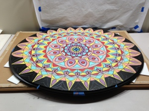 """Stained Glass"" tabletop (in progress)"